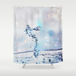 water art winter Shower Curtain