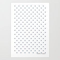 Bon Chance Blanc Art Print