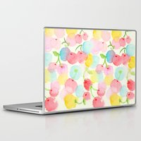 cherry blossom Laptop & iPad Skins featuring cherry blossom by zeze