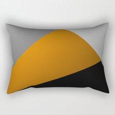 Metallic I - Abstract, geometric, metallic textured gold, silver and black metal effect artwork Rectangular Pillow