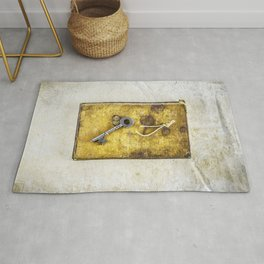 Key and Book Rug