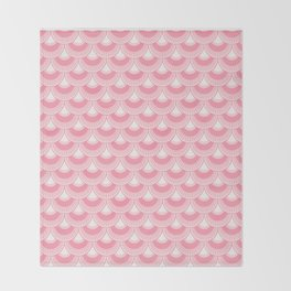 Koi Nobori Sakura Throw Blanket