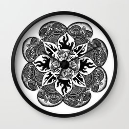 Les Coeurs Mandala Wall Clock