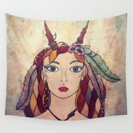 Lady of the Wood Wall Tapestry