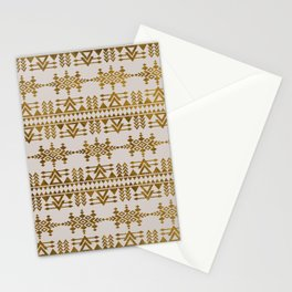 Golden Geometric Tribal Ethnic  Pattern Stationery Cards