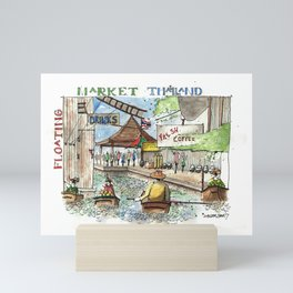 Thailand:  Floating Market Mini Art Print