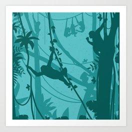 Wild Monkeys Art Print