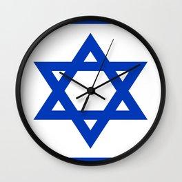 Flag of Isreal Wall Clock