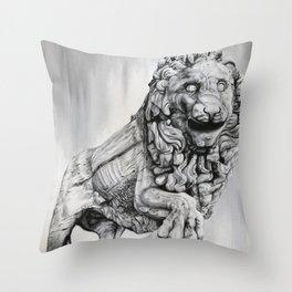 Medici Lion Painting Throw Pillow