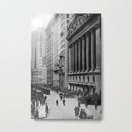 Vintage Wall Street NYC Photograph (1921) Metal Print
