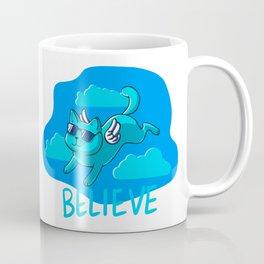 Blue cat angel Coffee Mug