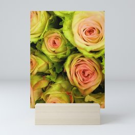 Green & Pink Bouquet Mini Art Print