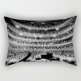Metropolitan Opera House, New York City black and white photography / black and white photographs Rectangular Pillow
