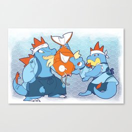 Johto Starters - The Diles Canvas Print