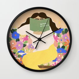 No Rain No Flowers Wall Clock