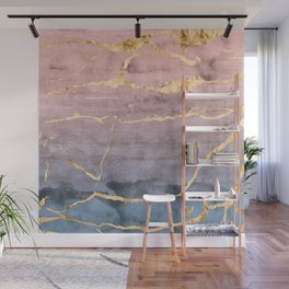Watercolor Gradient Gold Foil Wall Mural