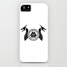 Norse Dragon - Valknut iPhone Case
