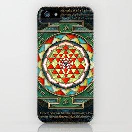 Maha Lakshmi (Laxmi) Mantra & Shri Yantra - Wealth Giving iPhone Case