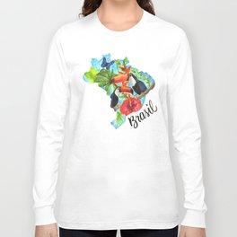 Brasil Watercolor Long Sleeve T-shirt