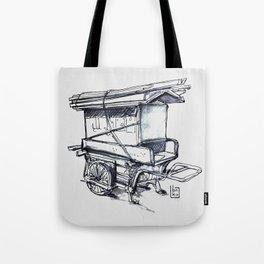 japan wood cart Tote Bag