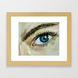 Eye (oil painting) Framed Art Print