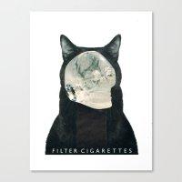 death Canvas Prints featuring Death by Hugo Barros