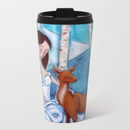 Winter Wonderland Metal Travel Mug