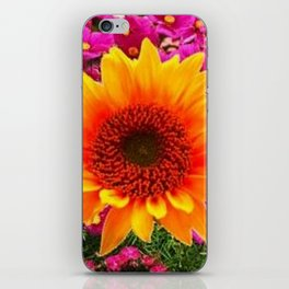 ABSTRACT GOLD SUNFLOWER FLOWERS ART iPhone Skin