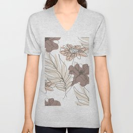Poppies and Chamomiles Unisex V-Neck