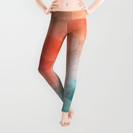 """""""Coral sand beach and tropical turquoise sea"""" Leggings"""