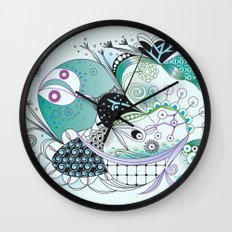 Winter tangle Wall Clock