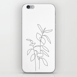 Plant one line drawing illustration - Ellie iPhone Skin
