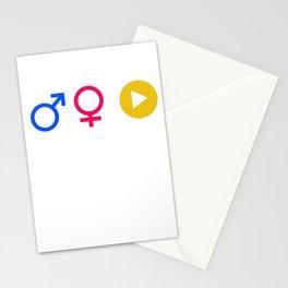 Man Woman Binge Watcher Gender Equality LGBT Equality Gay Lesbian Bisexual Transgender Feminism Gift Stationery Cards