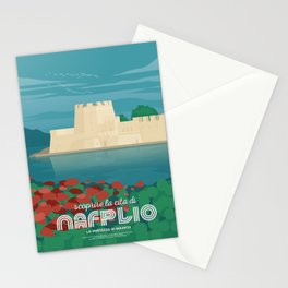 Nafplio, Bourtzi water castle (GR) Stationery Cards