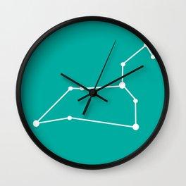 Leo (White & Turquoise) Wall Clock