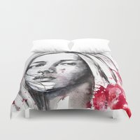 asia Duvet Covers featuring asia by Lua Fraga