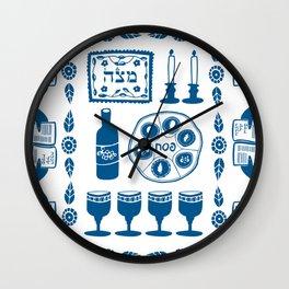 Symbols of Passover Folkart Wall Clock