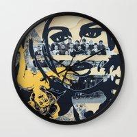 pulp Wall Clocks featuring Pulp by Mike Ferrari