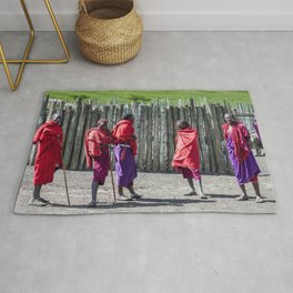 Africa 4123 Five Maasai Warriors Rug