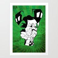 invader zim Art Prints featuring Invader Zim by JekyllDraws