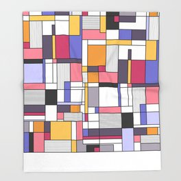 Abstract colored shapes and forms Throw Blanket