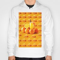 orange pattern Hoodies featuring Orange Pattern by Azeez Olayinka Gloriousclick