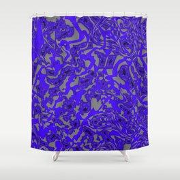 Blue Eddy Shower Curtain