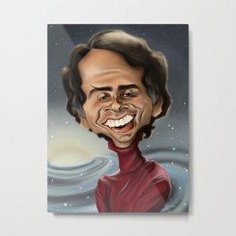 Carl Sagan - Caricature Metal Print