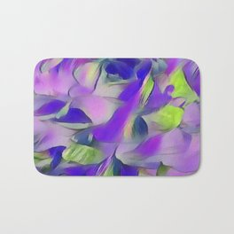 Heavenly Rose Petals Abstract - Purple Bath Mat