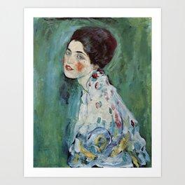 "Gustav Klimt ""Portrait of a lady"" Art Print"