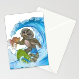 Pygmy Marmoset - Surfer - Superhero Stationery Cards