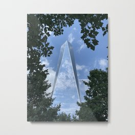 1 World Trade Center, through trees Metal Print