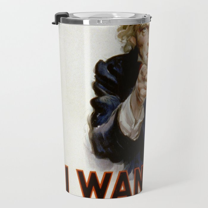 I want you for US army Poster Uncle Sam Poster Travel Mug