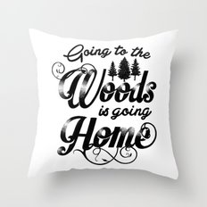 GOING TO THE WOODS Throw Pillow